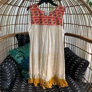 Ivy Jane embroidered tassel dress size small